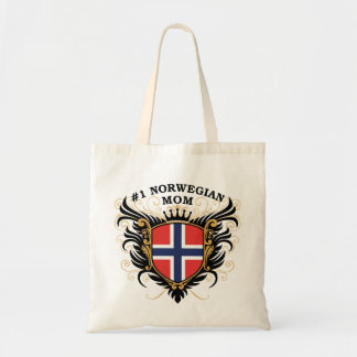 Number One Norwegian Mom Budget Tote Bag