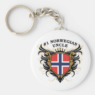 Number One Norwegian Uncle Keychain