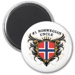 Number One Norwegian Uncle Magnets