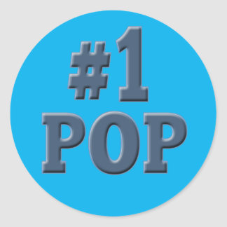 Number One Pop Fathers Day Classic Round Sticker