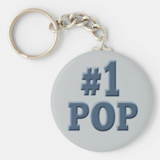 Number One Pop Fathers Day Key Chain