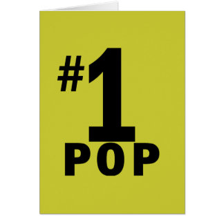 Number One Pop Products Card