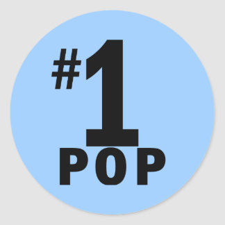 Number One Pop Products Classic Round Sticker