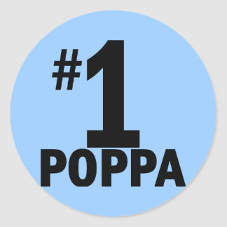 Number One Poppa Products Stickers