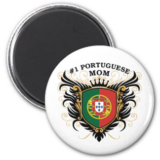 Number One Portuguese Mom 2 Inch Round Magnet