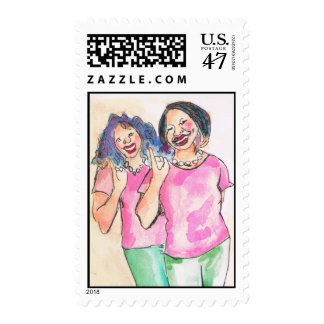 Number One Pretty Girl Stamp