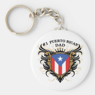 Number One Puerto Rican Dad Keychain