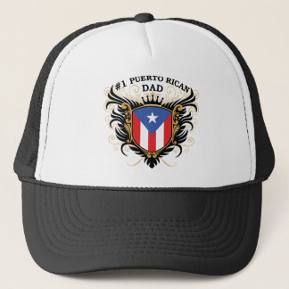 Number One Puerto Rican Dad Trucker Hat
