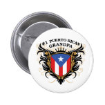 Number One Puerto Rican Grandpa Pins