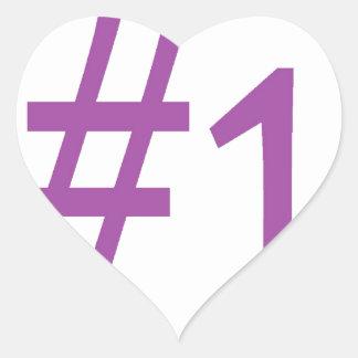 number one- purple heart sticker