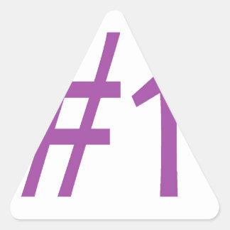 number one- purple triangle sticker