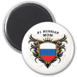 Number One Russian Mom Refrigerator Magnet