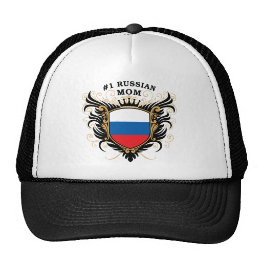 Number One Russian Mom Trucker Hat