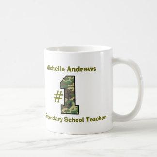Number One Secondary School Teacher  V41 Classic White Coffee Mug