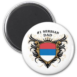 Number One Serbian Dad 2 Inch Round Magnet
