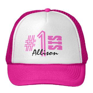 Number One Sister Custom Name Gift Item Trucker Hat