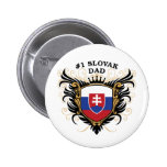 Number One Slovak Dad Button