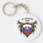 Number One Slovak Dad Key Chains