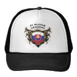 Number One Slovak Grandpa Trucker Hats