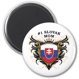 Number One Slovak Mom 2 Inch Round Magnet