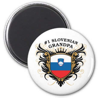 Number One Slovenian Grandpa 2 Inch Round Magnet