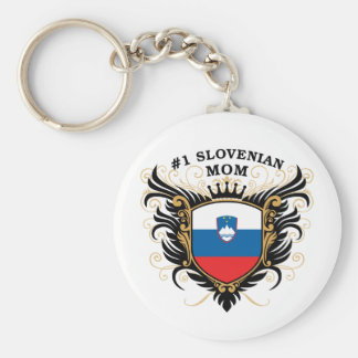 Number One Slovenian Mom Keychain
