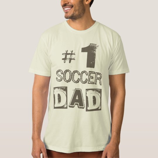 Number One SOCCER Dad Grunge  T-Shirt