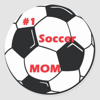 Number One Soccer Mom Classic Round Sticker