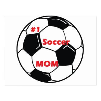 Number One Soccer Mom Postcard