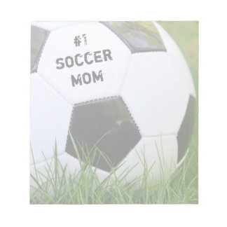 Number One Soccer Mom with Soccer Ball Notepad