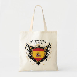 Number One Spanish Uncle Tote Bags