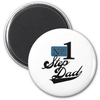 Number One StepDad 2 Inch Round Magnet