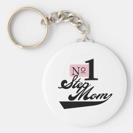 Number One StepMom Keychain