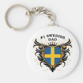 Number One Swedish Dad Keychain