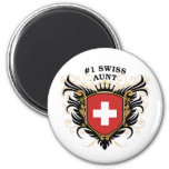 Number One Swiss Aunt Refrigerator Magnet
