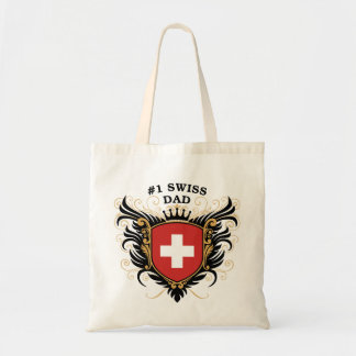 Number One Swiss Dad Canvas Bag