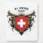 Number One Swiss Dad Mouse Pad