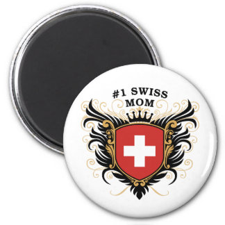 Number One Swiss Mom 2 Inch Round Magnet