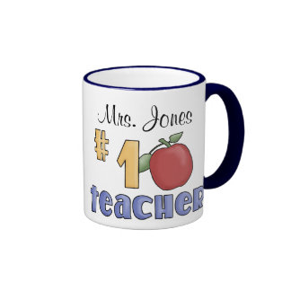 Number One Teacher 1 Teacher Print Art Design Coffee Mug