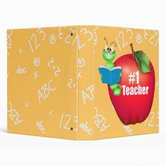 Number One Teacher 3 Ring Binder