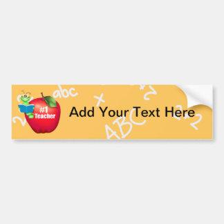 Number One Teacher Bumper Sticker