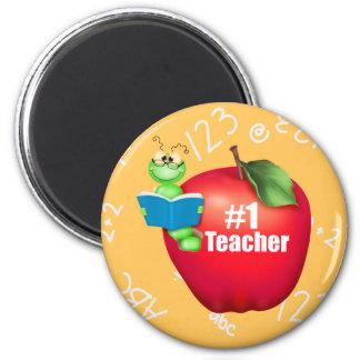 Number One Teacher 2 Inch Round Magnet