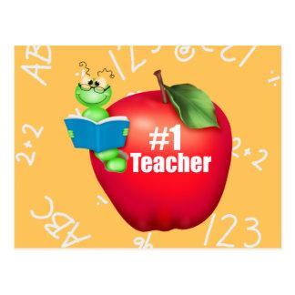 Number One Teacher Postcard