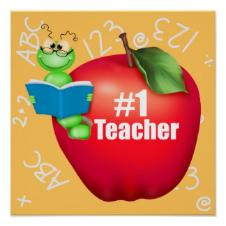 Number One Teacher Poster
