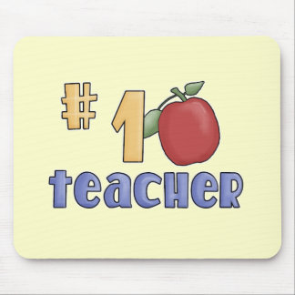 Number One Teacher Tshirts and Gifts Mouse Mat