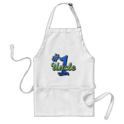 Apron with Number One Uncle design