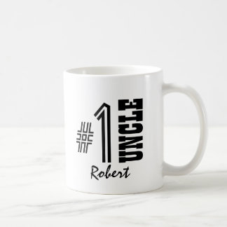Number One UNCLE Black and White Modern Gift Coffee Mug