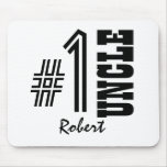 Number One UNCLE Black and White Modern Gift Mouse Pad