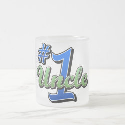 Frosted Glass Mug with Number One Uncle design