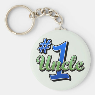 Number One Uncle Keychain